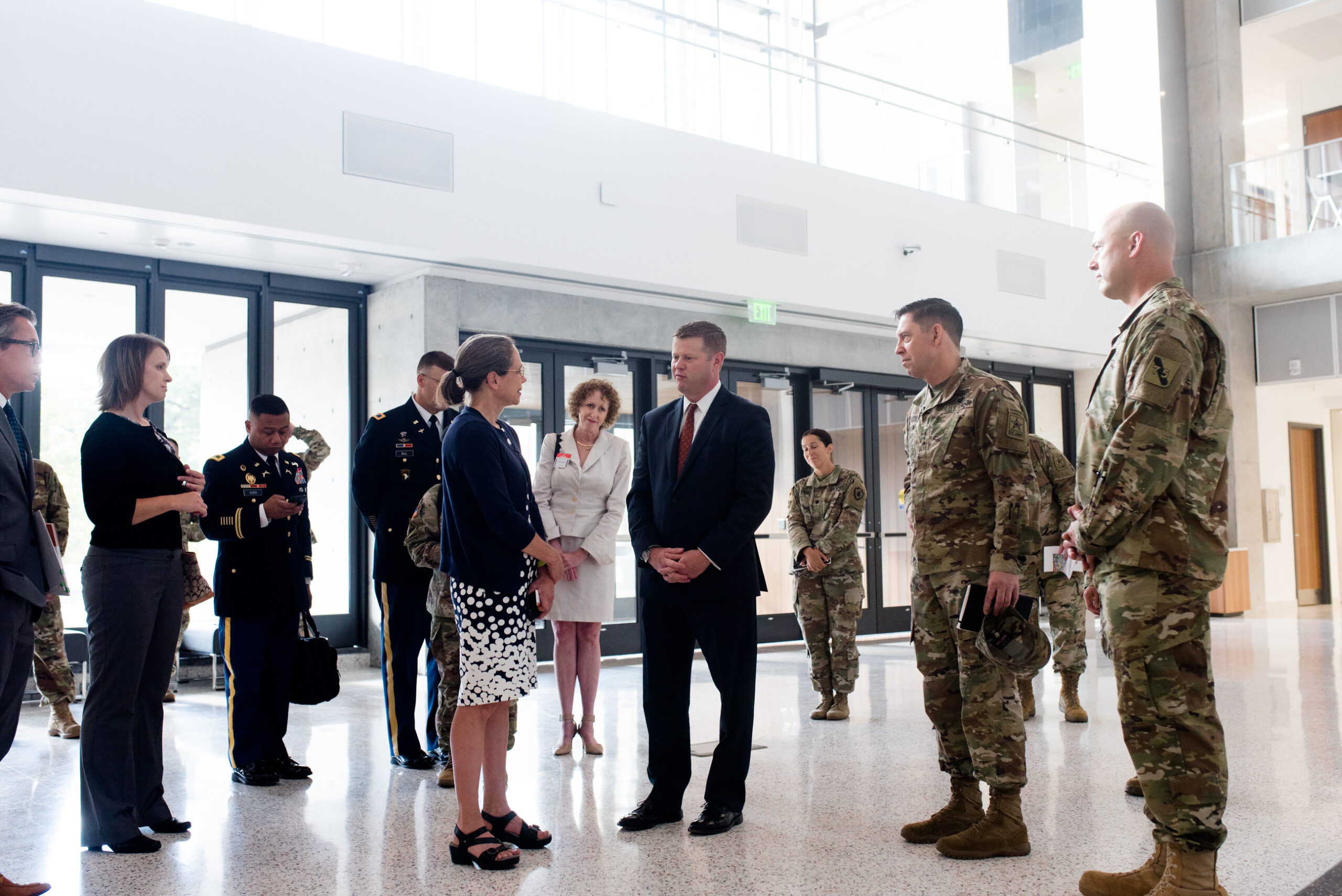 Dean Wood meets Under Secretary of the Army