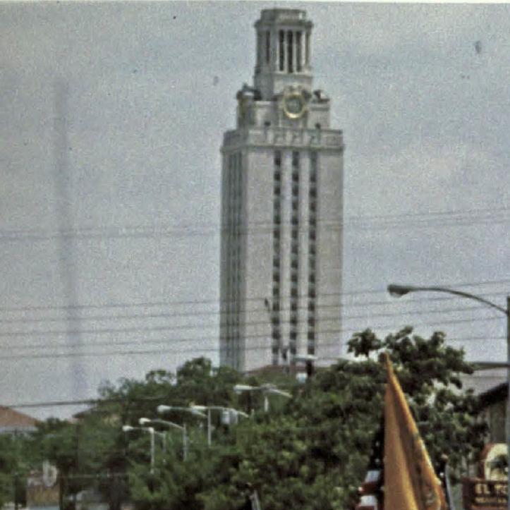 UT Tower in 1970s