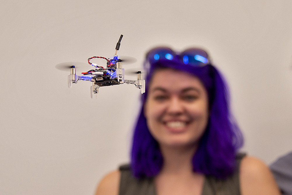 student-with-drone