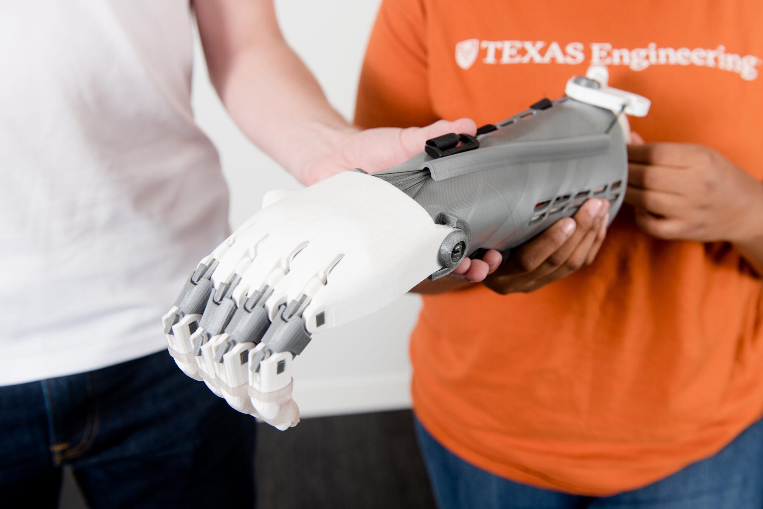 Photo of prosthetic arm